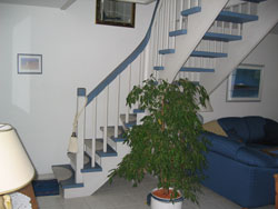 Ferienhaus B Treppe Aufgang OG
